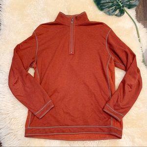Tommy Bahama | Orange reversible 1/4 zip sweater